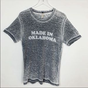 Tops - Made in Oklahoma Burnout Short Sleeve T-Shirt M